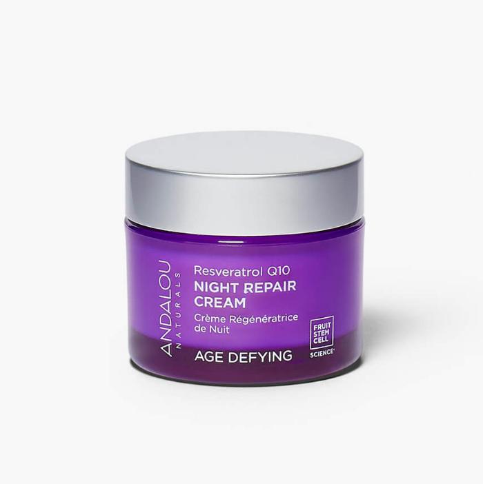 Age Defying Resveratrol Q10 Night Repair Cream Andalou Naturals UK Favourites